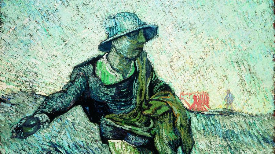 The Sower (after Millet), by Vincent van Gogh 1890 KM 110.673