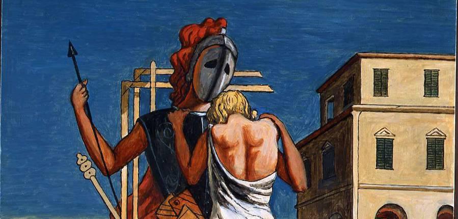 Giorgio de Chirico, Cri d'amour, 1974, huile sur toile, 102 x 82 cm, Fondazione Giorgio e Isa de Chirico, Rome © SABAM Belgium 2019